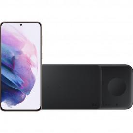 Samsung Galaxy S21 Plus 128GB Paars 5G + Samsung Trio Draadloze Oplader 9W Zwart – Telefoonstore.nl