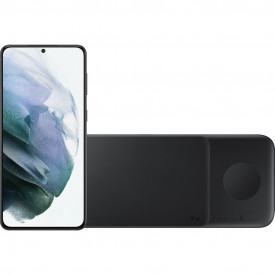 Samsung Galaxy S21 Plus 256GB Zwart 5G + Samsung Trio Draadloze Oplader 9W Zwart – Telefoonstore.nl