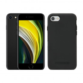 Apple iPhone SE 64GB Zwart + Otterbox Symmetry Back Cover Zwart – Telefoonstore.nl