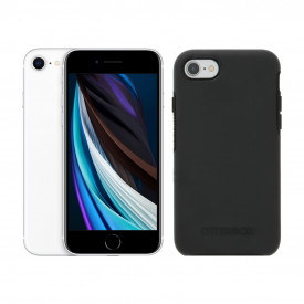 Apple iPhone SE 128GB Wit + Otterbox Symmetry Back Cover Zwart – Telefoonstore.nl