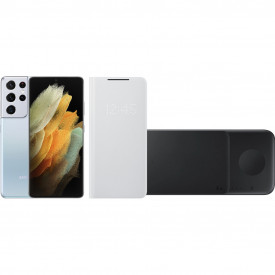 Starterspakket – Samsung Galaxy S21 Ultra 256GB Zilver 5G – Telefoonstore.nl