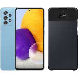 Samsung Galaxy A72 128 GB Blauw + Samsung Smart S View Wallet Zwart – Telefoonstore.nl