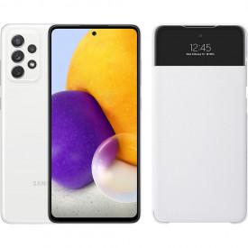 Samsung Galaxy A72 128 GB Wit + Samsung Smart S View Wallet Wit – Telefoonstore.nl