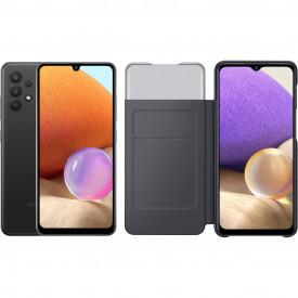Samsung Galaxy A32 128 GB Zwart + Samsung Galaxy A32 Smart S View Book Case Zwart – Telefoonstore.nl