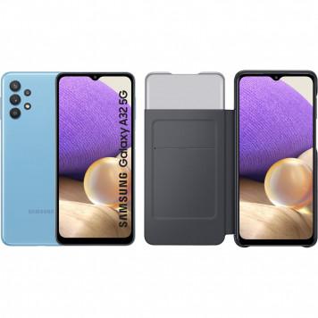 Samsung Galaxy A32 5G 128 GB Blauw + Samsung Galaxy A32 Smart S View Book Case Zwart