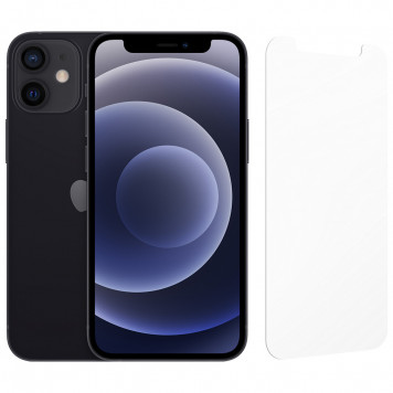 Apple iPhone 12 mini 128GB Zwart + InvisibleShield Glass Elite Screenprotector