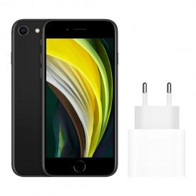 Apple iPhone SE 64GB Zwart + Apple Usb C Oplader 20W – Telefoonstore.nl