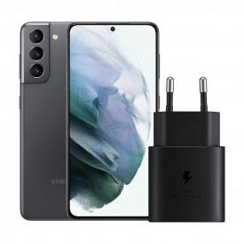 Samsung Galaxy S21 128GB Grijs 5G + Samsung Snellader Zonder Kabel 25W – Telefoonstore.nl