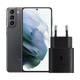 Samsung Galaxy S21 256GB Grijs 5G + Samsung Snellader Zonder Kabel 25W – Telefoonstore.nl