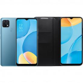 OPPO A15 32GB Blauw + OPPO Book Case Zwart – Telefoonstore.nl