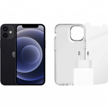 Apple iPhone 12 mini 128GB Zwart + Accessoirepakket
