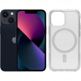 Apple iPhone 13 mini 256GB Zwart + OtterBox Symmetry Clear Back Cover Transparant – Telefoonstore.nl